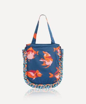 Piranharama Frilled Tana Lawn™ Cotton Tote Bag
