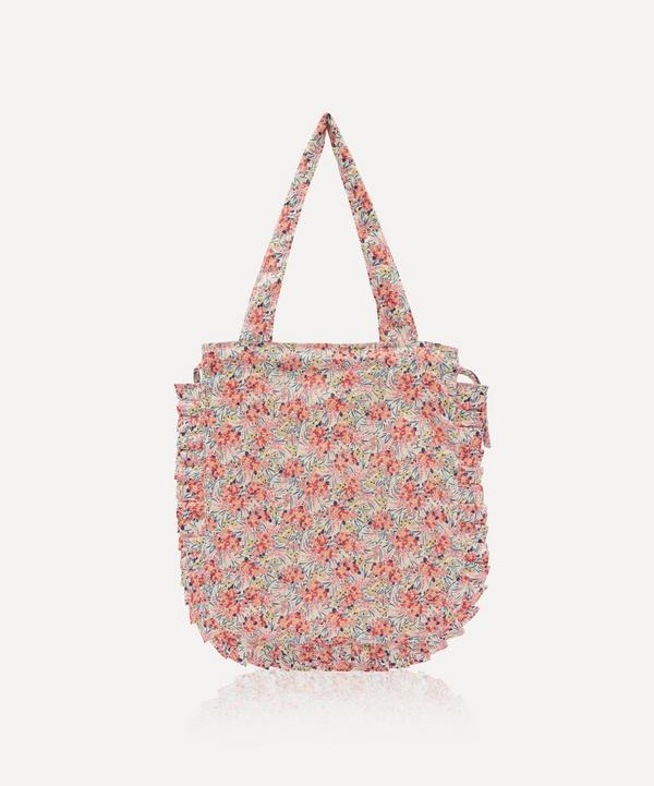 Maison M - Swirling Petals Frilled Cotton Tote Bag