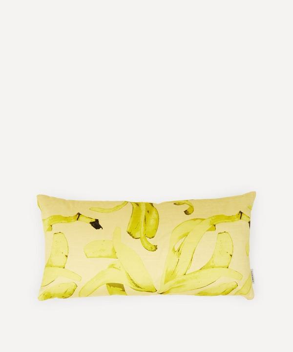 Liberty - Banana Slip Velvet Bolster Cushion