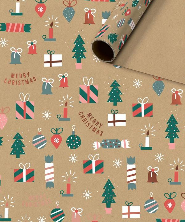Unspecified - Merry Christmas Kraft Wrapping Roll