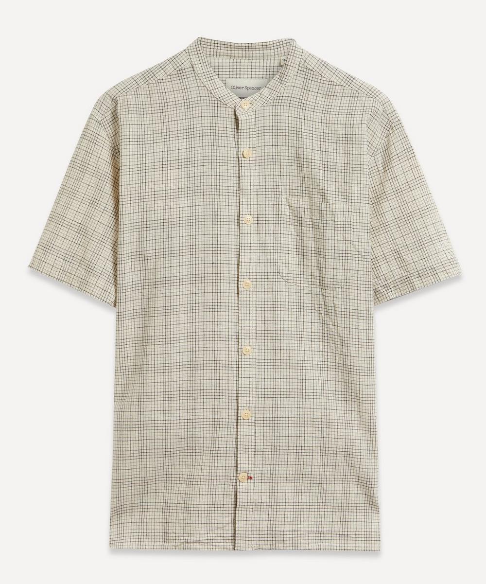 Oliver Spencer - Grandad Collar Grid Check Shirt