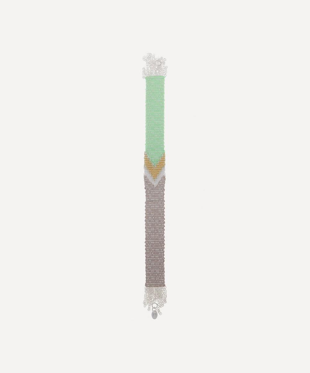 Stephanie Schneider - Silver Wide Woven Chain Bracelet