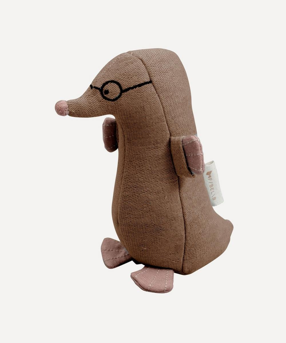 Fabelab - Marvin Mole Rattle Soft Toy