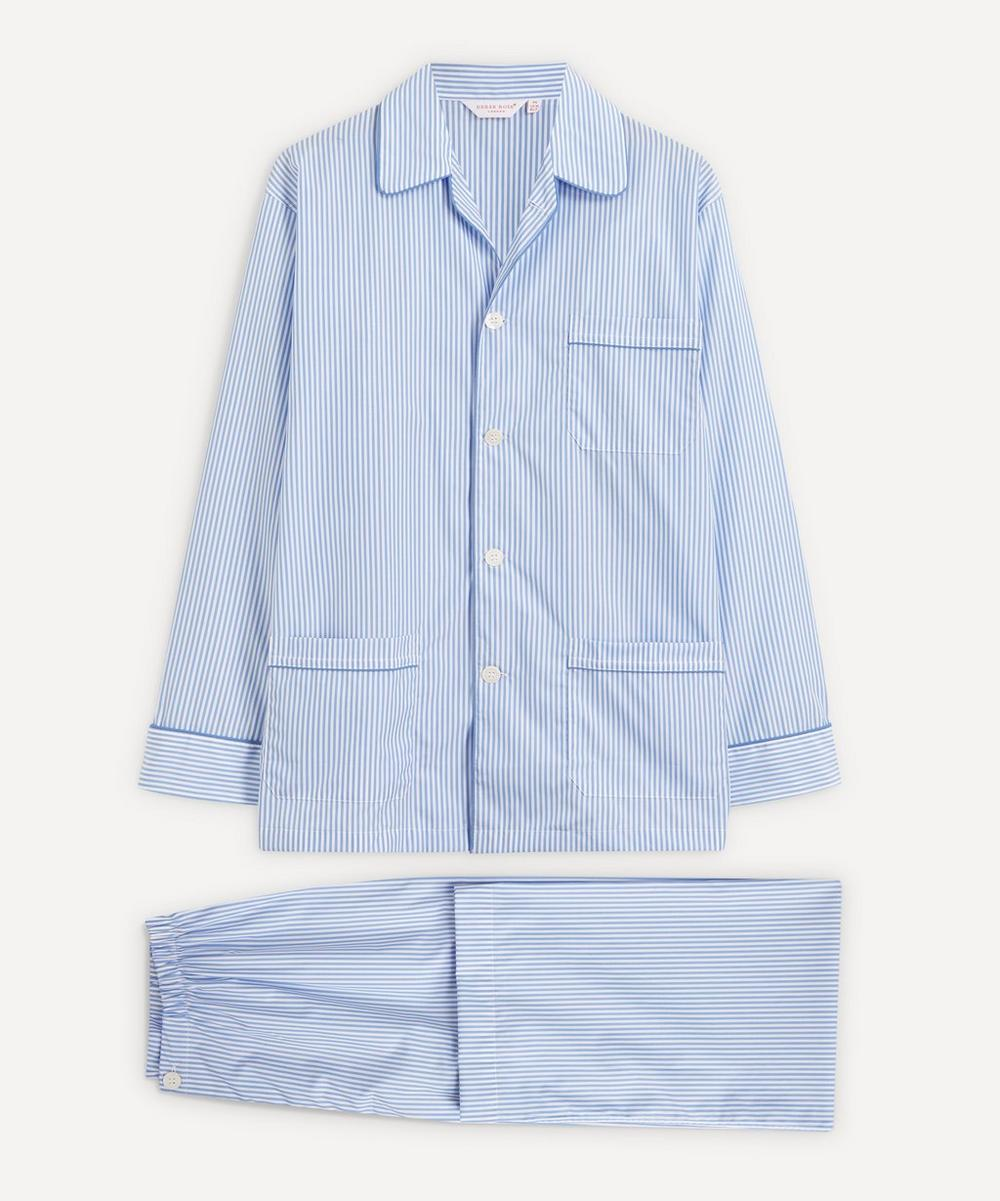 Derek Rose - Core Piped Classic Fit Cotton Check Pyjama Set