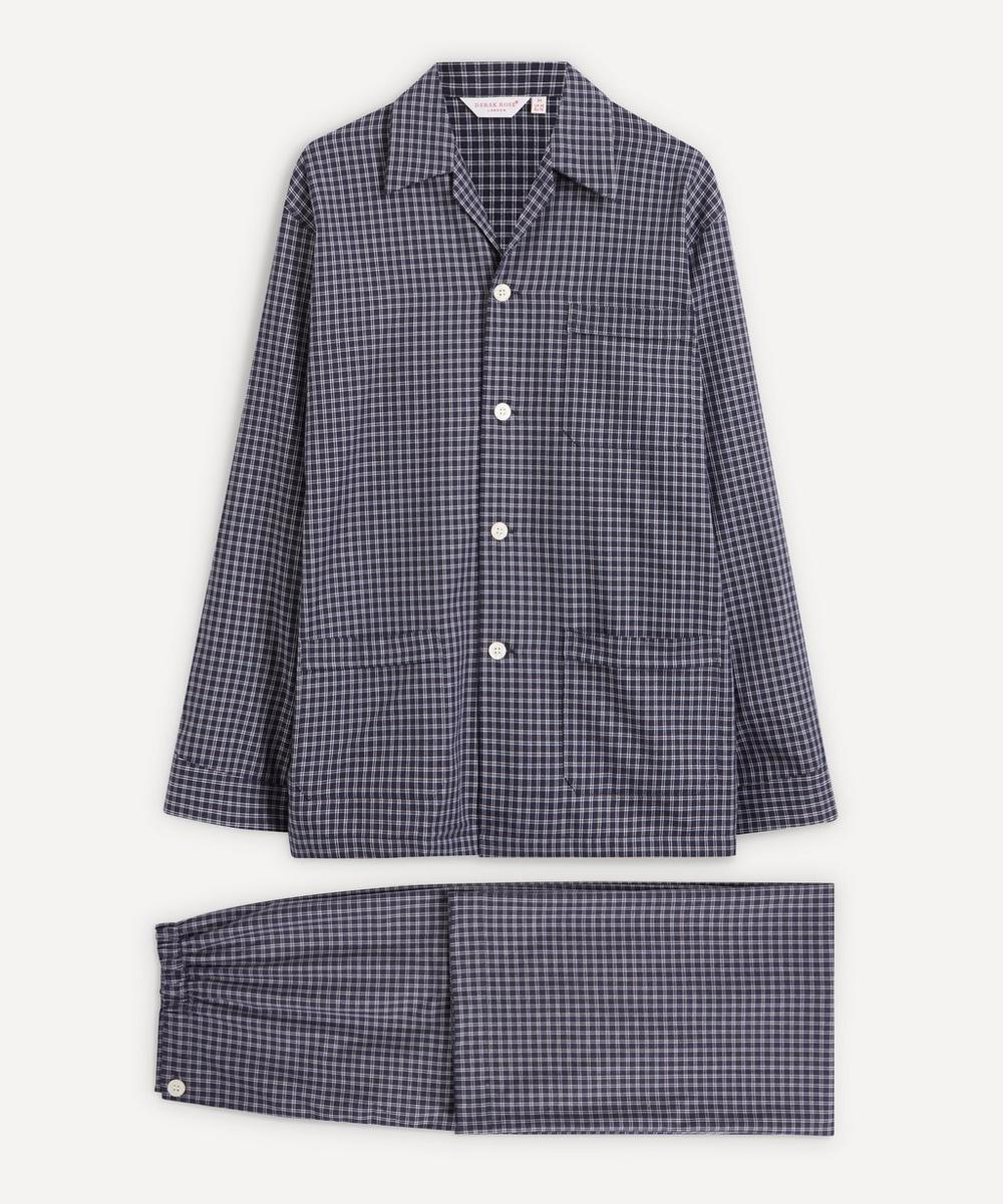 Derek Rose - Core Piped Classic Fit Brushed Cotton Check Pyjama