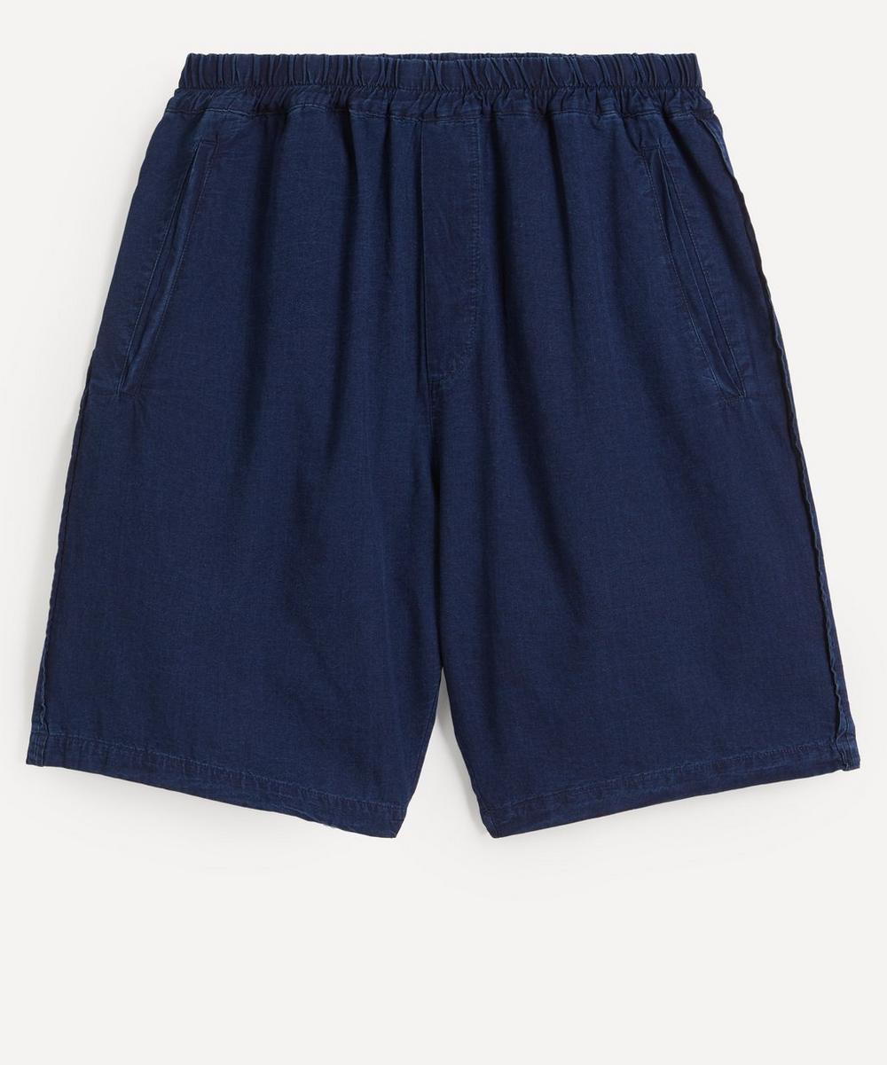 Folk - Assembly Washed Cotton-Linen Shorts