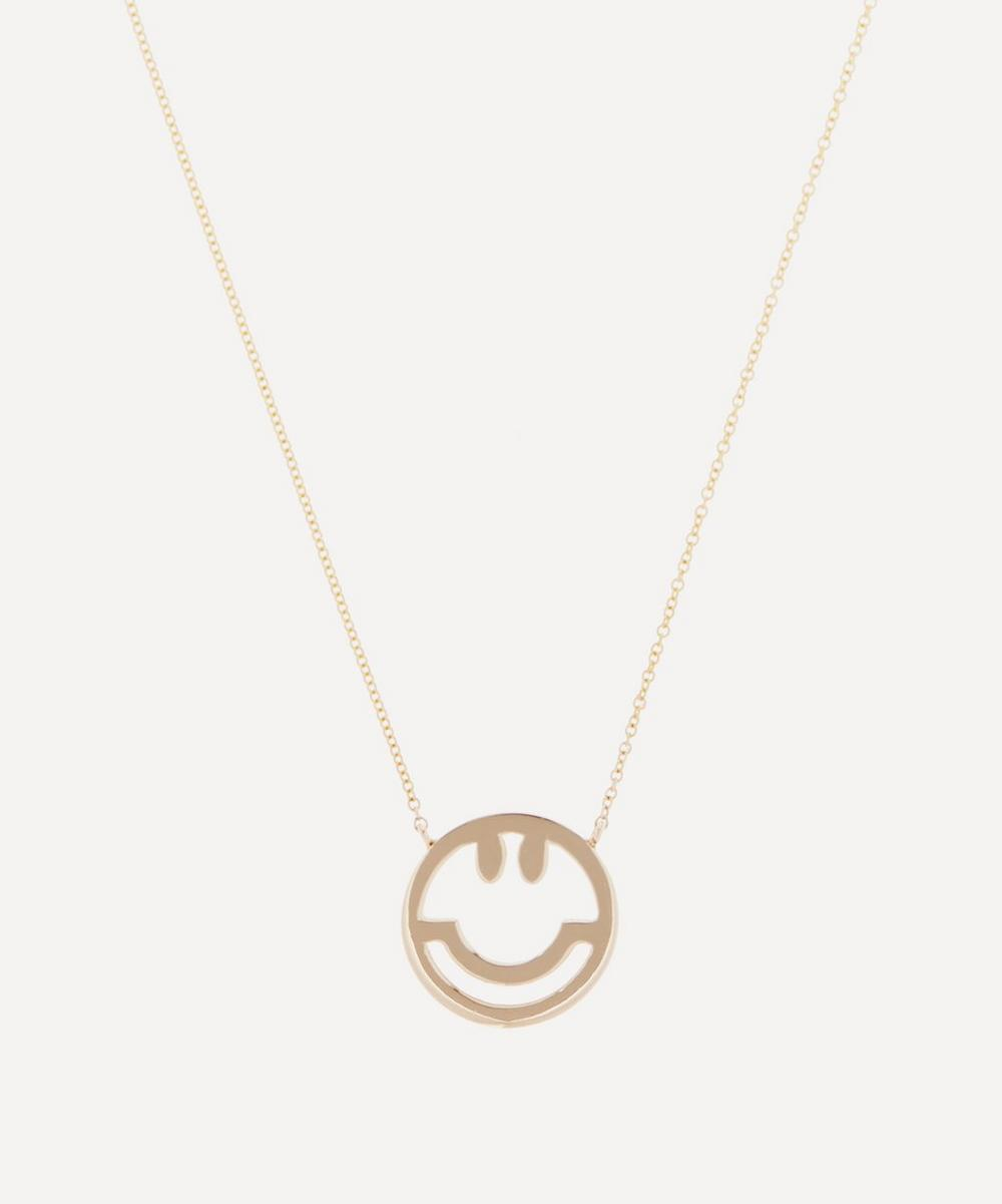 Roxanne First - 14ct Gold Have a Nice Day Smiley Face Pendant Necklace