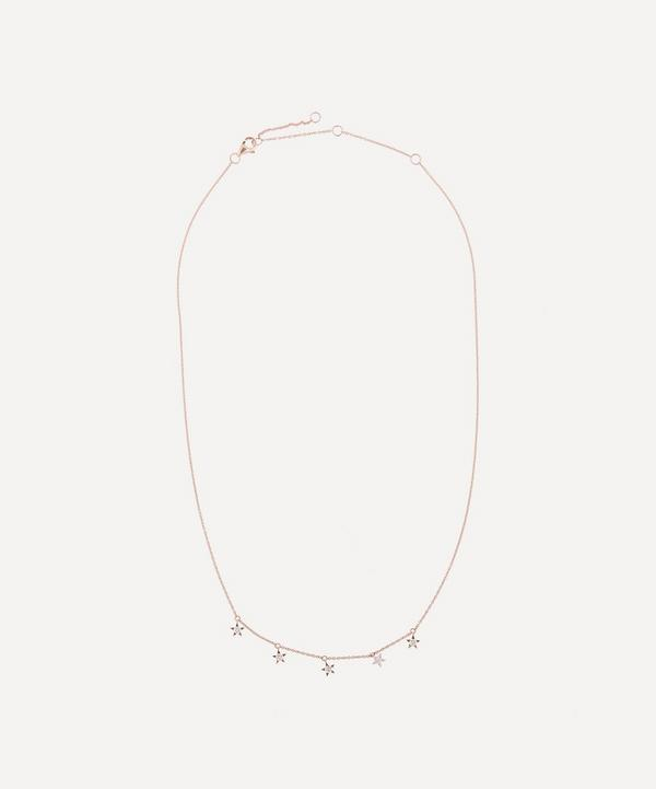 Roxanne First - 14ct Rose Gold Mini Diamond Star Necklace