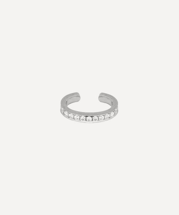 Roxanne First - 14ct White Gold Single Diamond Row Ear Cuff