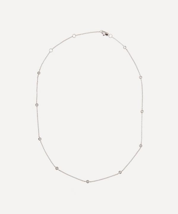 Roxanne First - 14ct White Gold Diamond Dot Necklace
