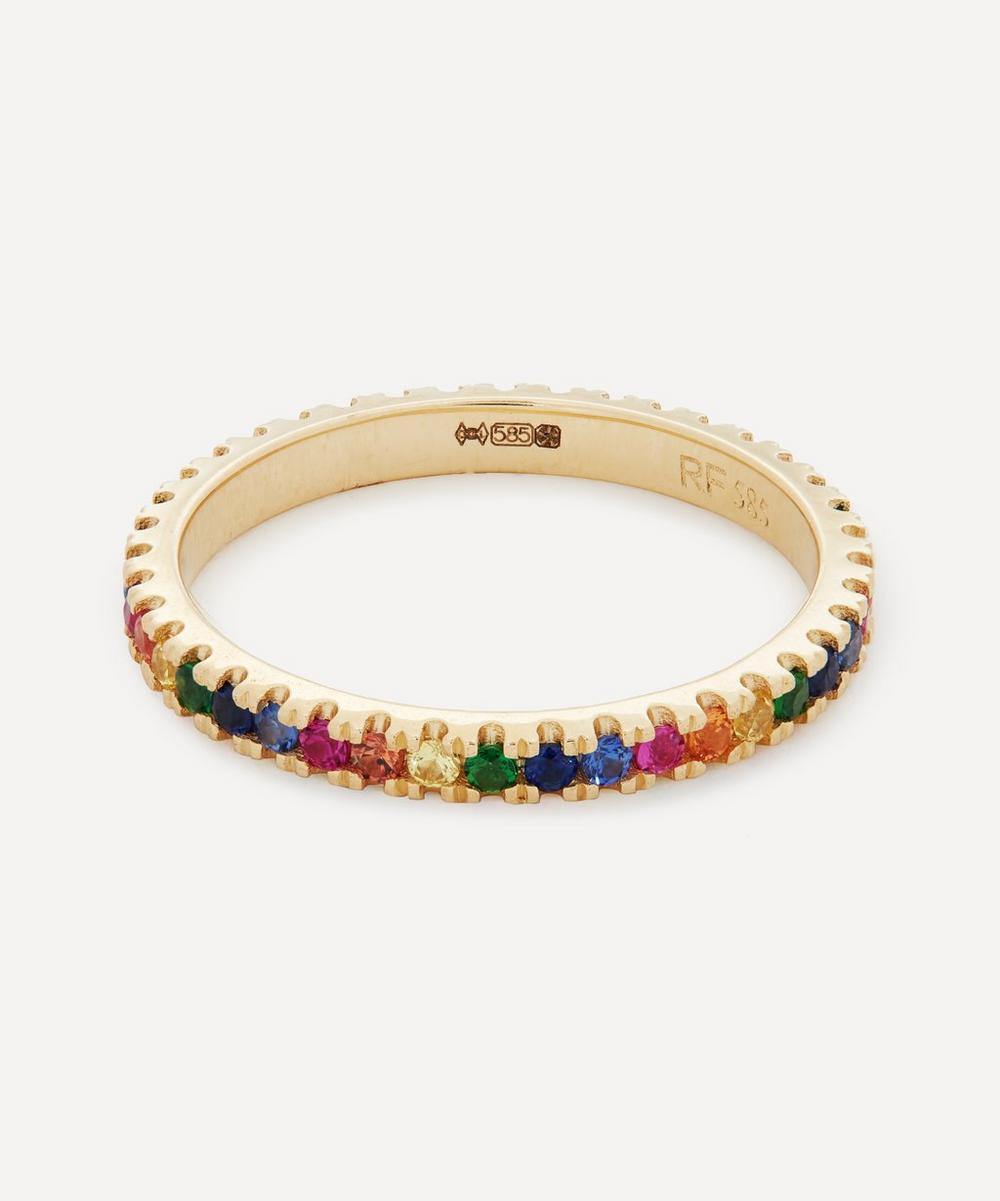 Roxanne First - 14ct Gold Rainbow Sapphire Eternity Ring