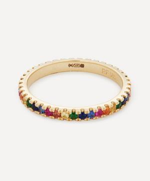 14ct Gold Rainbow Sapphire Eternity Ring