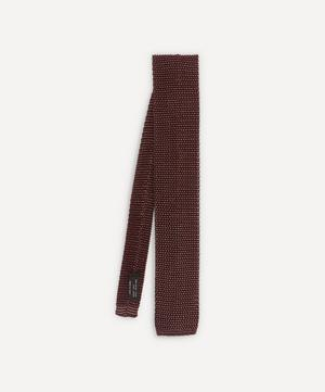 Two-Tone Knitted Silk Tie