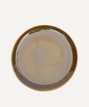Nero Glazed Stoneware Dinner Plate