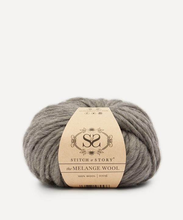 Stitch and Story - Melange Wool Yarn Loft Grey