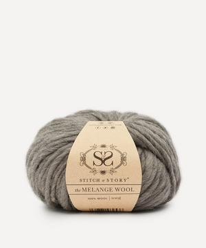 Melange Wool Yarn Loft Grey