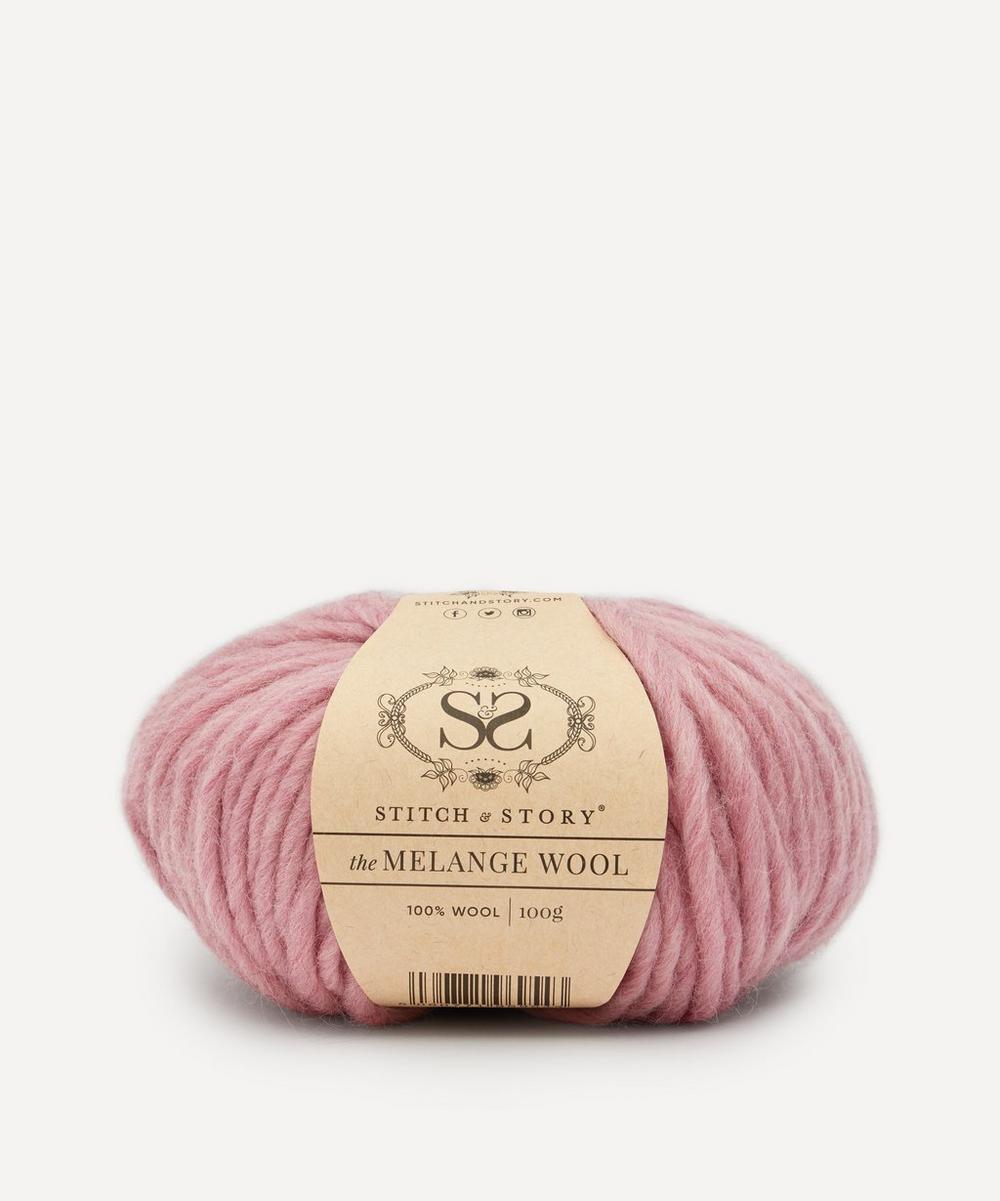 Stitch and Story - Melange Wool Yarn Blossom Pink