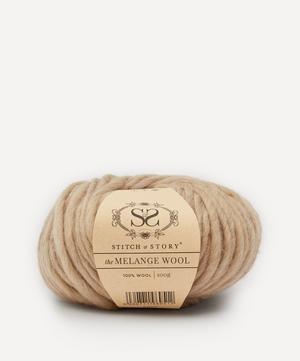 Melange Wool Yarn Pastel Beige