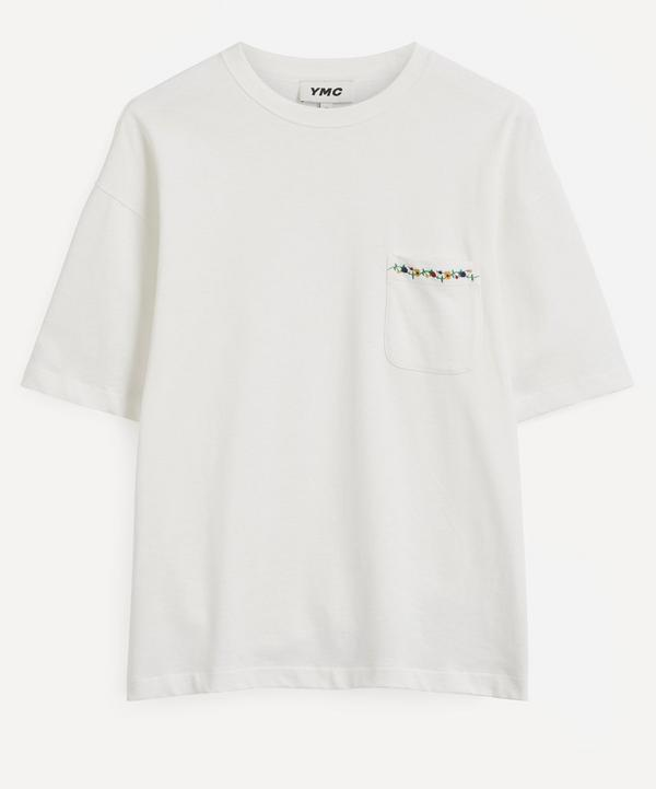 YMC - Floral Embroidered Pocket T-Shirt