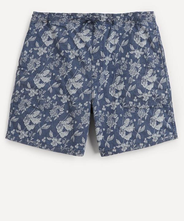 YMC - Z Floral Denim Shorts