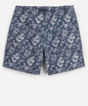 Z Floral Denim Shorts