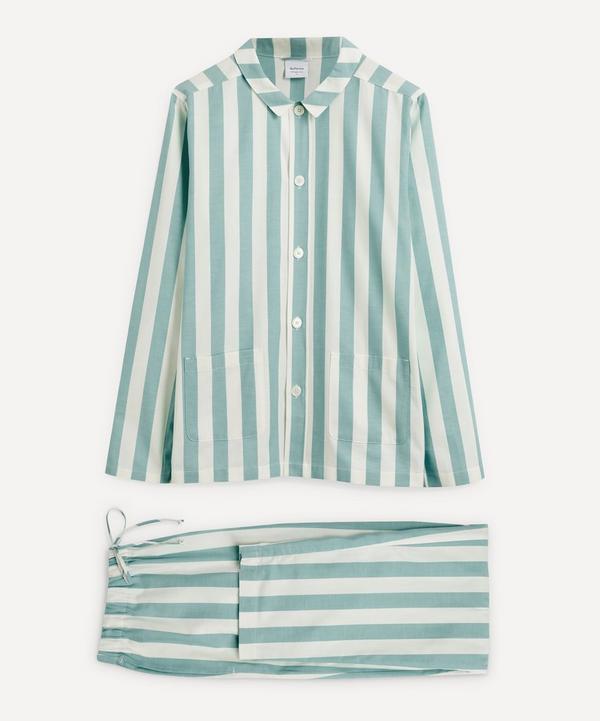 Nufferton - Uno Green and White Striped Pyjamas