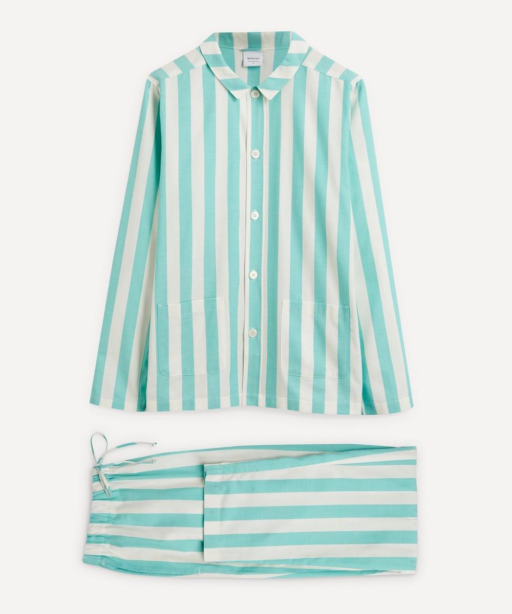 Nufferton - Uno Turquoise and White Striped Pyjamas