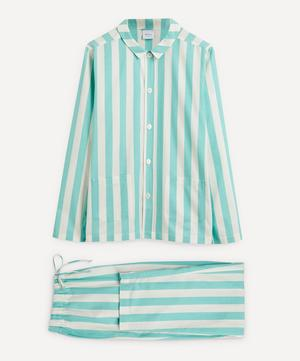 Uno Turquoise and White Striped Pyjamas