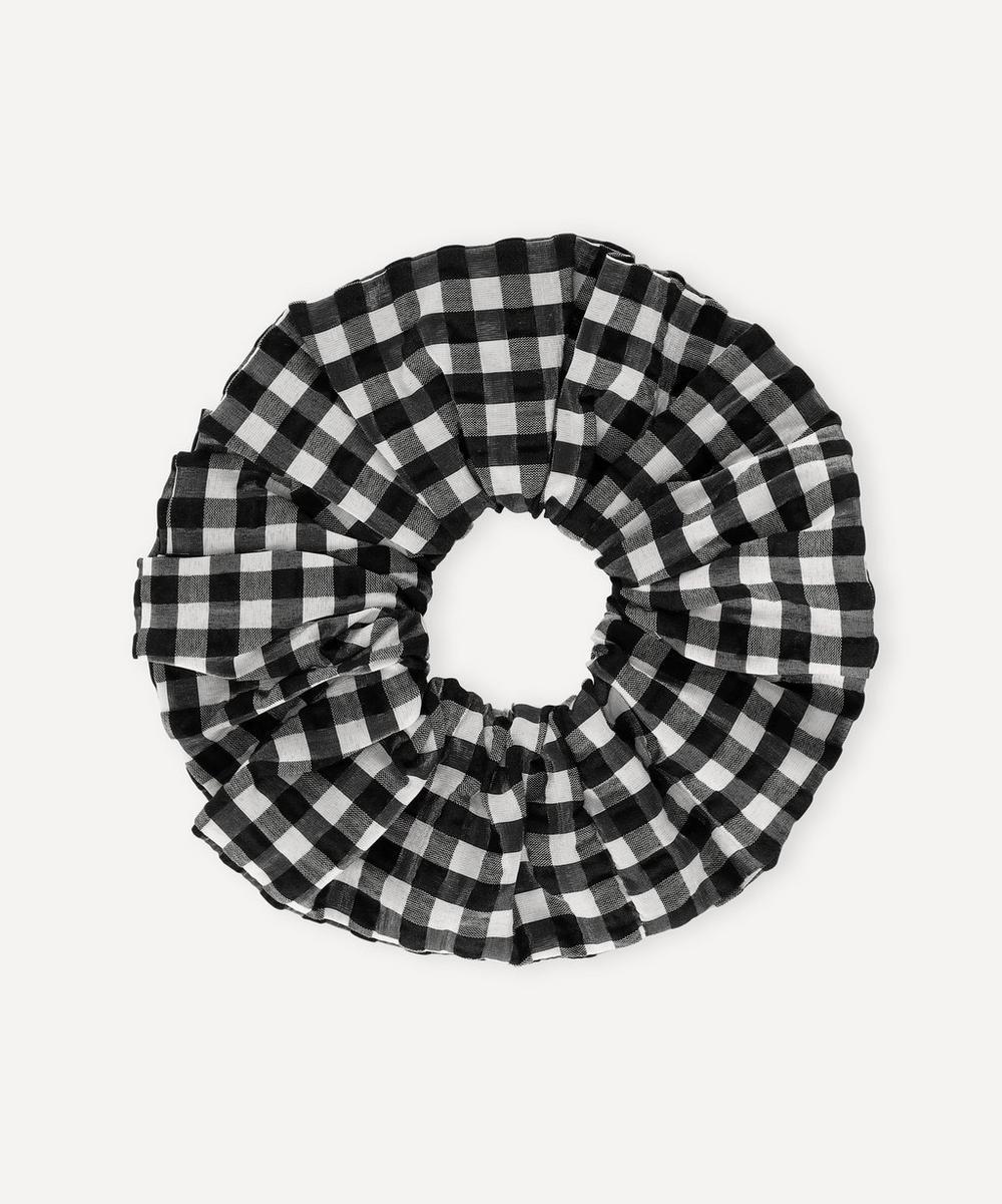 Ganni - Seersucker Check Organic Cotton-Blend Scrunchie