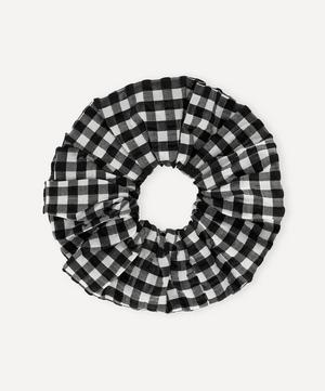 Seersucker Check Organic Cotton-Blend Scrunchie
