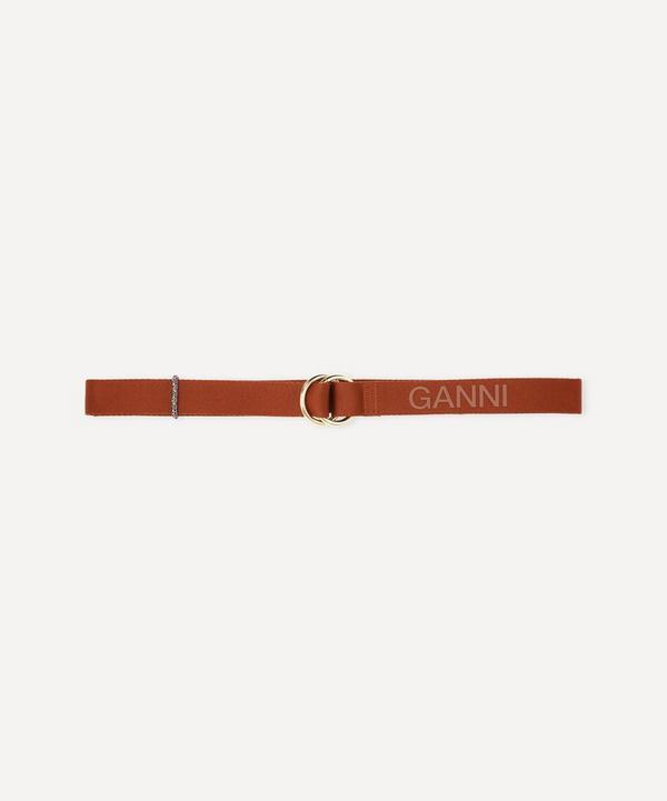 Ganni - Logo Webbing Belt