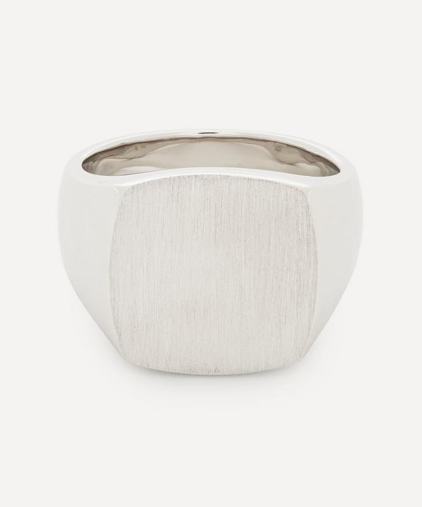 Tom Wood - Silver Cushion Satin Brushed Ring