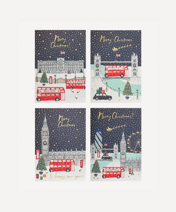 Unspecified - Mixed London Scenes Christmas Cards Pack of Eight