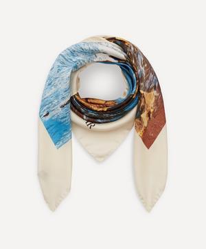 Sea and Earth Silk Scarf