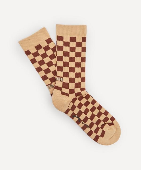 Socksss - Cinnamon Spice Checkerboard Socks