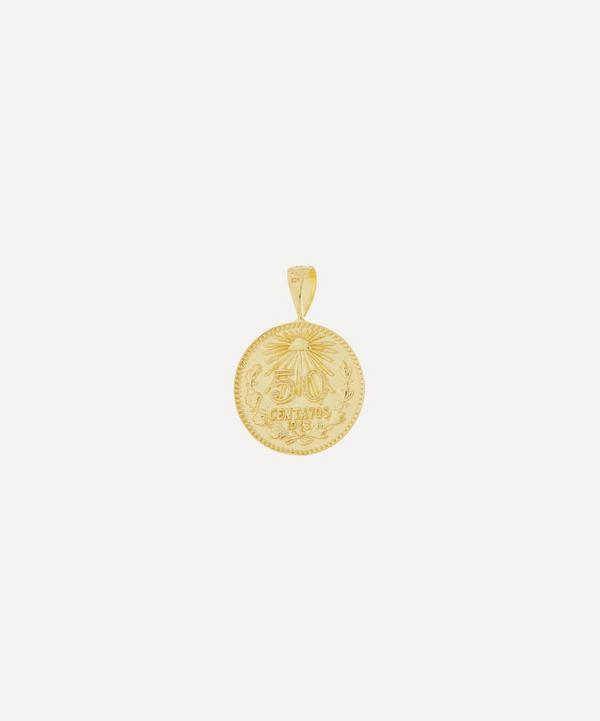 Anna + Nina - Gold-Plated Peso Coin Necklace Charm