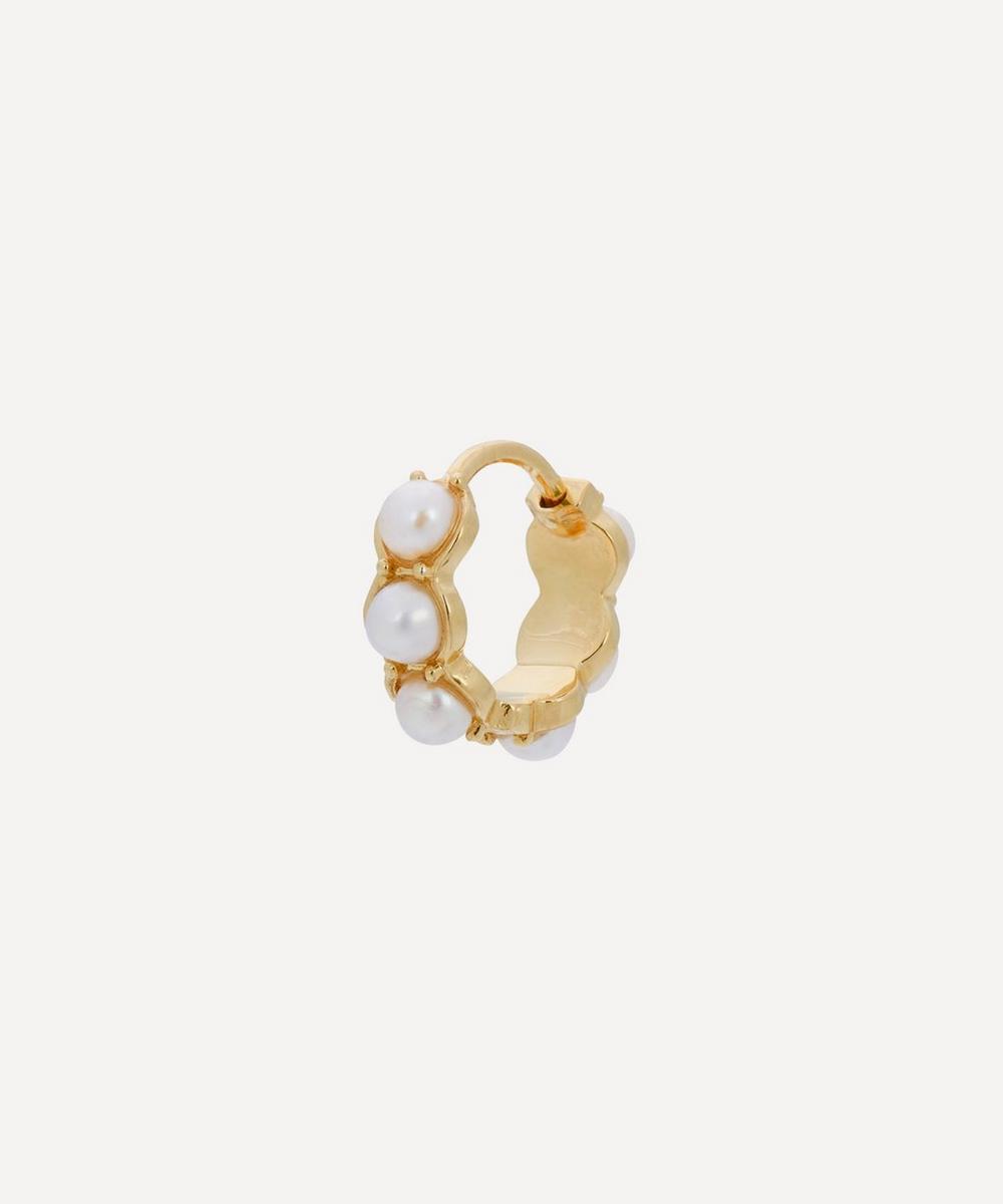 Anna + Nina - Gold-Plated La Perla Ring Single Hoop Earring