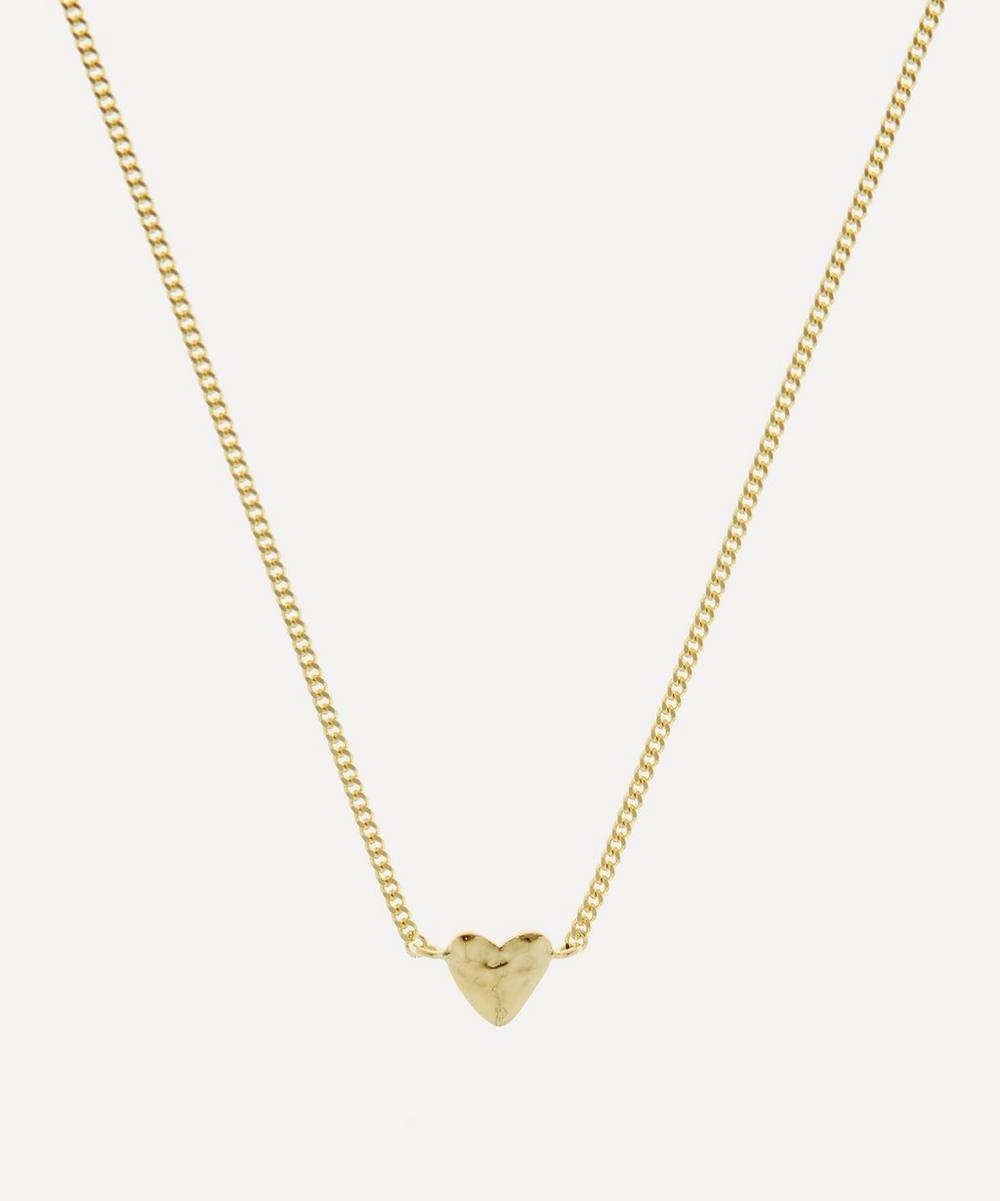 Anna + Nina - Gold-Plated Te Quiero Heart Pendant Necklace