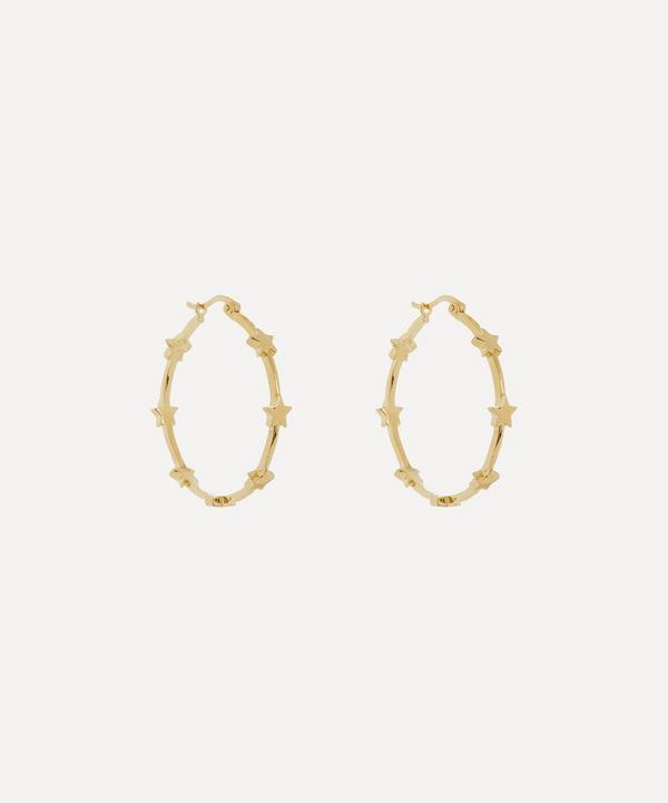 Anna + Nina - Gold-Plated Nova Star Hoop Earrings