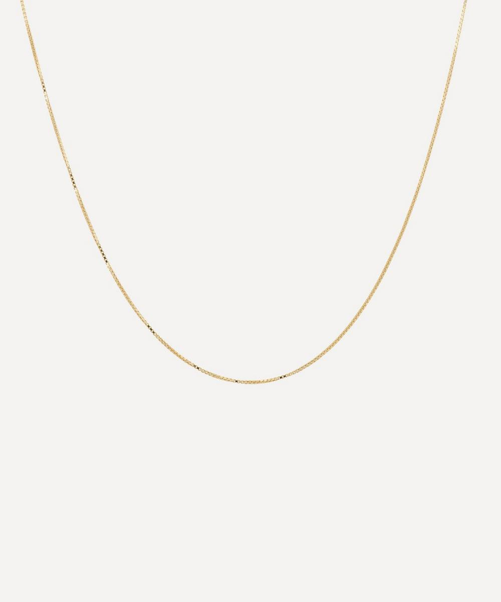 Anna + Nina - Gold-Plated Short Plain Square Chain Necklace