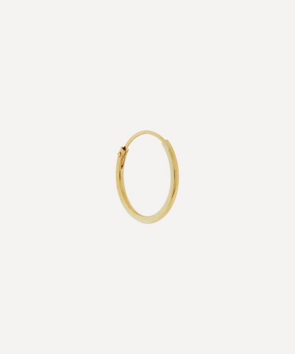 Anna + Nina - Gold Small Plain Ring Single Hoop Earring