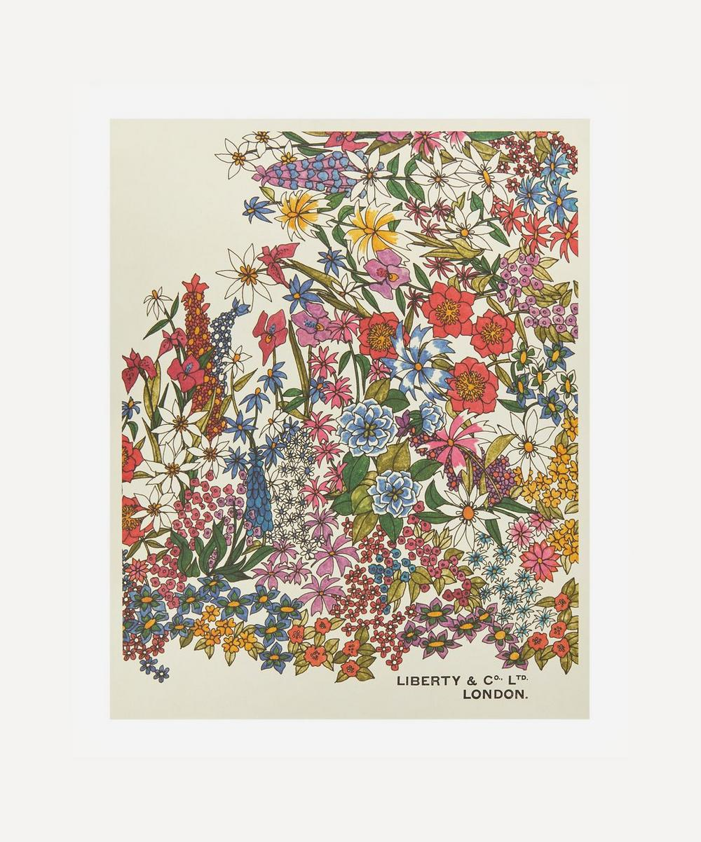Liberty - Unframed Garden Border Archive Liberty Art Print