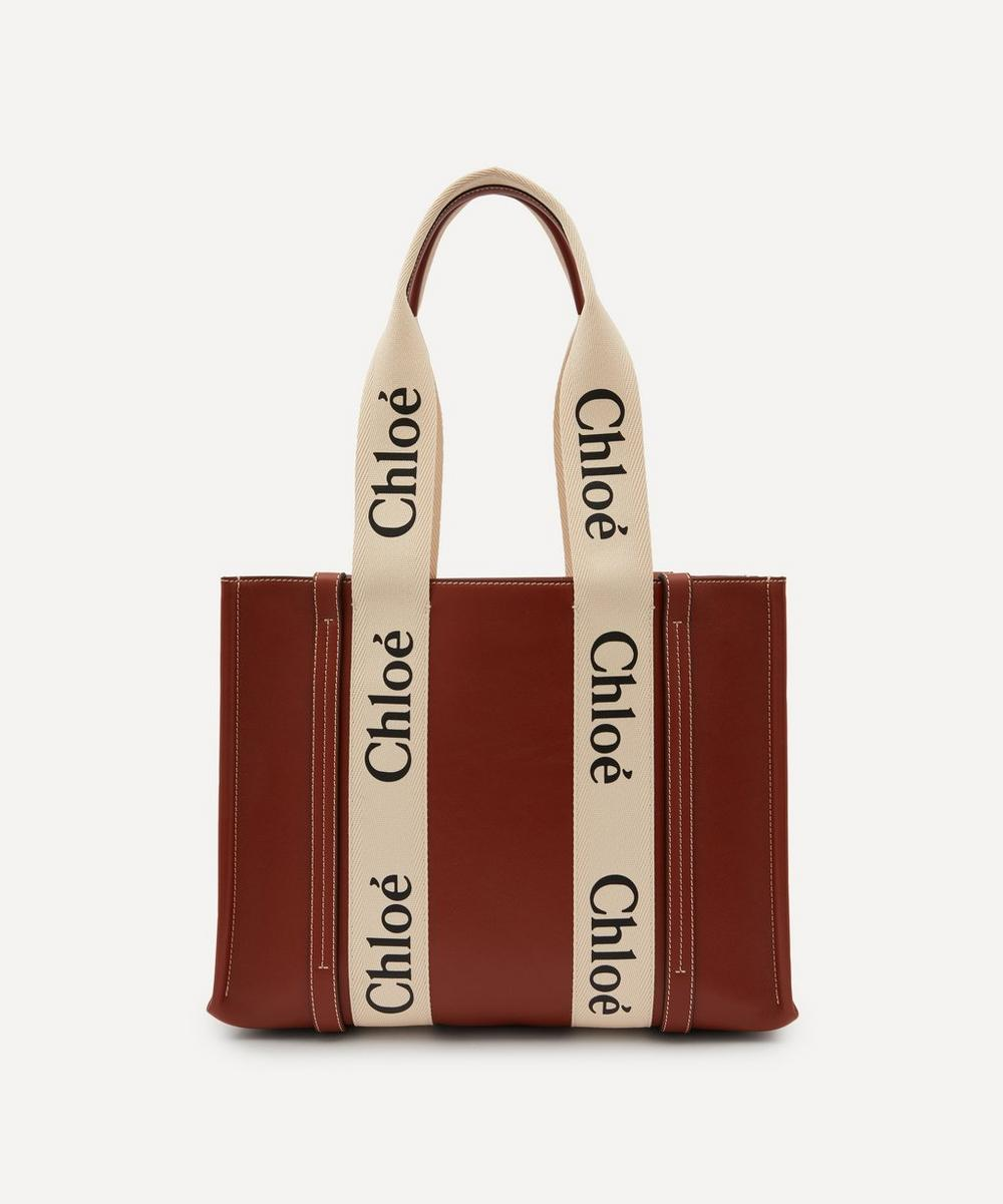 Chloé - Woody Medium Leather Tote Bag
