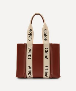 Woody Medium Leather Tote Bag