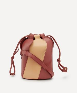 Tulip Mini Bi-Colour Leather Bucket Bag