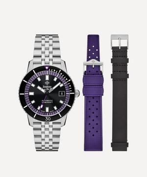 Super Sea Wolf Stainless Steel 3-Strap Watch