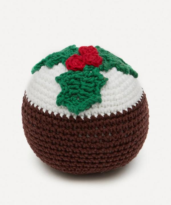 Hiro + Wolf - Christmas Pudding Squeaky Dog Toy