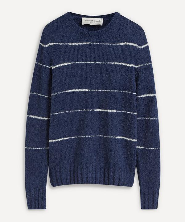 Officine Générale - Marco Striped Knitted Sweater