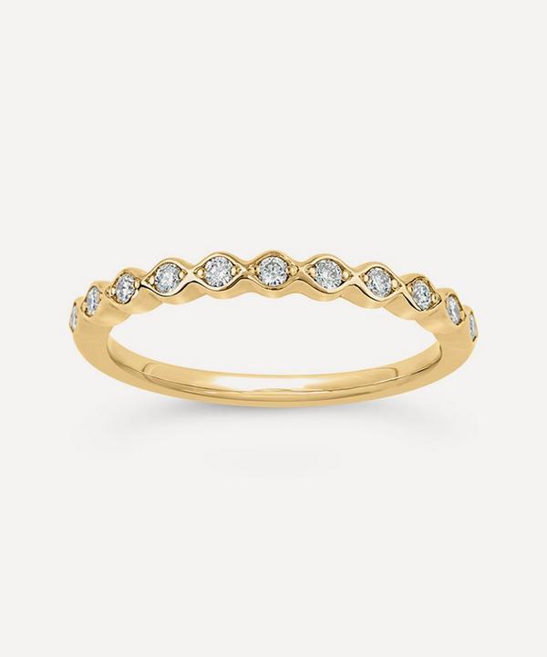 Dinny Hall - 14ct Gold Rosemary Diamond Half Eternity Ring