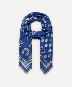 Jewelled Button and Skull Modal Scarf